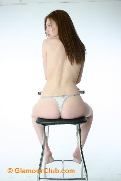 Morgan ass shot wearing a thong