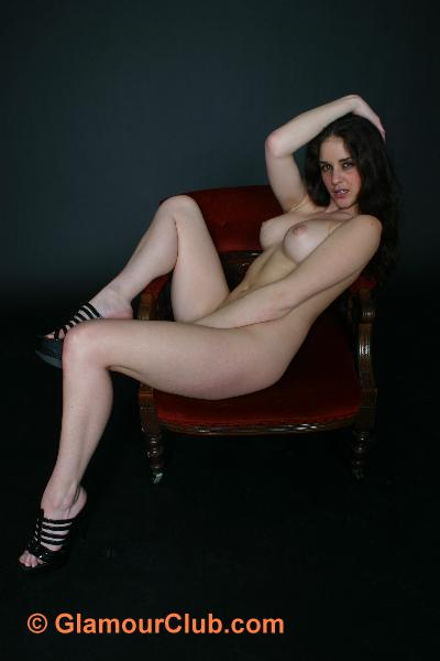 Rebecca Bailey naked lounging on chair