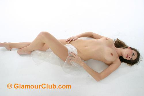 Maria Eriksson naked lying down