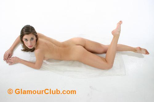 Maria Eriksson naked lying down bum shot