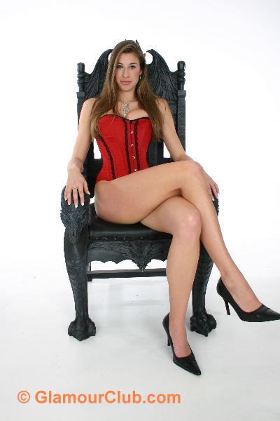 Maria Eriksson sitting on chair