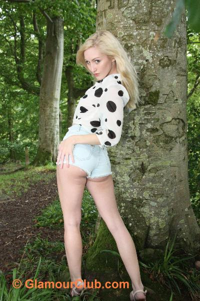 Rachelle Summers denim shorts bum shot