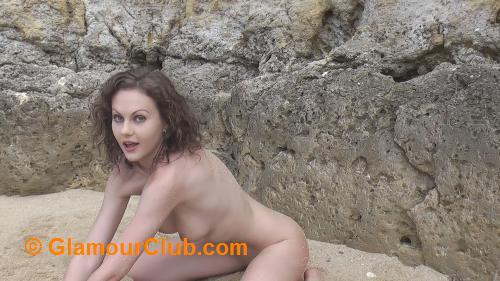 Tina Kay naked in the sand